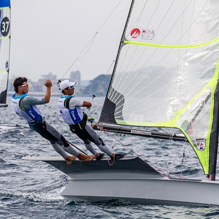 Olympic berth on the line for Japanese 49er sailors
