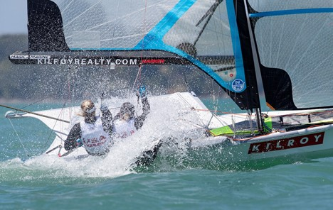 USA skiff teams lead from the front on day one in Auckland